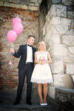 Славные молодые пары свадьбы Стоковое Изображение
