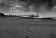 Славные небеса на пристани Schevingen, Нидерландов Стоковые Изображения RF
