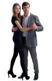 Пары в танцульке Стоковое Фото