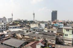 Славный взгляд главного города плотность резиденцией стоковое изображение