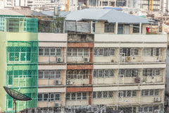 Славный взгляд главного города плотность резиденцией стоковое фото rf