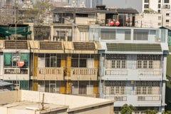 Славный взгляд главного города плотность резиденцией стоковое изображение rf