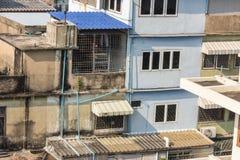 Славный взгляд главного города плотность резиденцией стоковая фотография