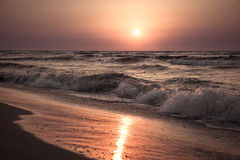 Славный восход солнца над морем Стоковое Изображение