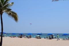 Славный день на пляже Стоковое Фото