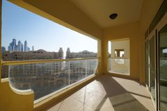 Славный интерьер современного балкона Стоковые Фото