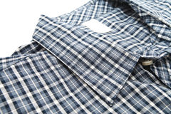 Славный мужской воротник рубашки проверки Стоковая Фотография RF