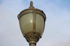 Славный столб лампы старого стиля стоковое фото rf