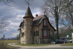 Славный швейцарский дом Стоковая Фотография