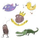 5 славных животных Стоковые Фотографии RF