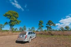 С автомобиля дороги в лесе на национальном парке Thung Salang Luang, Phetchabun, Таиланд Стоковое Фото