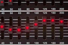 Слайдеры выравнивателя Стоковые Фотографии RF