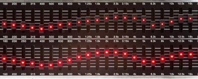 Слайдеры выравнивателя Стоковое фото RF