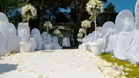 Слайдер междурядья свадебной церемонии сток-видео