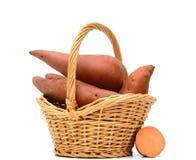 Сладкий картофель на белой предпосылке Стоковые Фото