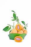 Сладостная желтая слива Мэриан, манго сливы стоковые изображения