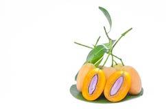 Сладостная желтая слива Мэриан, манго сливы стоковое изображение rf