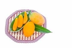 Сладостная желтая слива Мэриан Стоковые Изображения RF