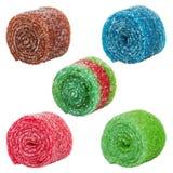 Сладостная красочная конфета, изолированная на белизне Стоковое Фото