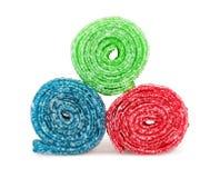 Сладостная красочная конфета, изолированная на белизне Стоковое Изображение RF
