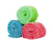 Сладостная красочная конфета, изолированная на белизне Стоковые Изображения
