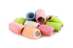 Сладостная красочная конфета на белизне Стоковое фото RF