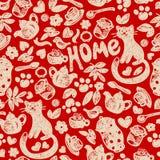 Сладостная домашняя безшовная картина Стоковое Фото