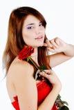 Сладостная предназначенная для подростков девушка с подняла стоковое изображение