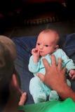 Сладостная семья папы младенца Стоковые Изображения RF