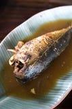 Сладостное и солёное зажаренное тушёное мясо скумбрии Стоковая Фотография RF