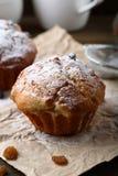 Сладостные булочки с изюминками Стоковое Фото