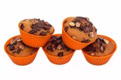 Сладостные булочки с шоколадом и фундуком стоковое изображение