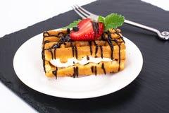 Сладостные вкусные венские Waffles Стоковое Фото