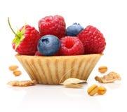Сладостные десерт, поленика и голубика Стоковое Изображение RF