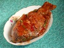 Сладостные и кислые морепродукты рыб карпа Crucian Стоковое Фото