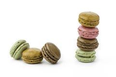 Сладостные и красочные французские macaroons или macaron Стоковые Фото
