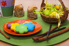 Сладостные красочные печенья Стоковое фото RF