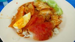 Сладостные маленькие тайские/китайские блюда свинины для перерыв на ланч Стоковая Фотография