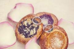 Сладостные обручальные кольца Стоковое фото RF