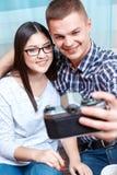 Сладостные пары на дате Стоковое Фото