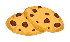 Сладостные печенья в стиле нарисованном рукой Стоковое Фото