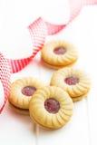 Сладостные печенья с вареньем Стоковые Изображения RF