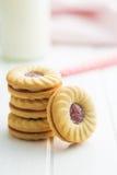 Сладостные печенья с вареньем Стоковая Фотография
