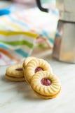 Сладостные печенья с вареньем Стоковая Фотография RF