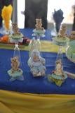 Сладостные плюшевые медвежоата и вечеринка по случаю дня рождения младенца Стоковые Изображения RF