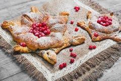 Сладостные плюшки печенья датские Стоковое Изображение