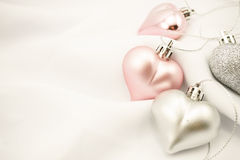 Сладостные сердца цвета для романтичной предпосылки Стоковые Фото
