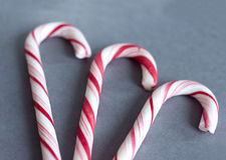 Сладостные тросточки конфеты Стоковые Фото