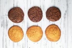 Сладостные черно-белые печенья Стоковое Фото
