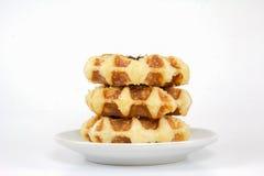 Сладостные waffles Стоковые Фотографии RF